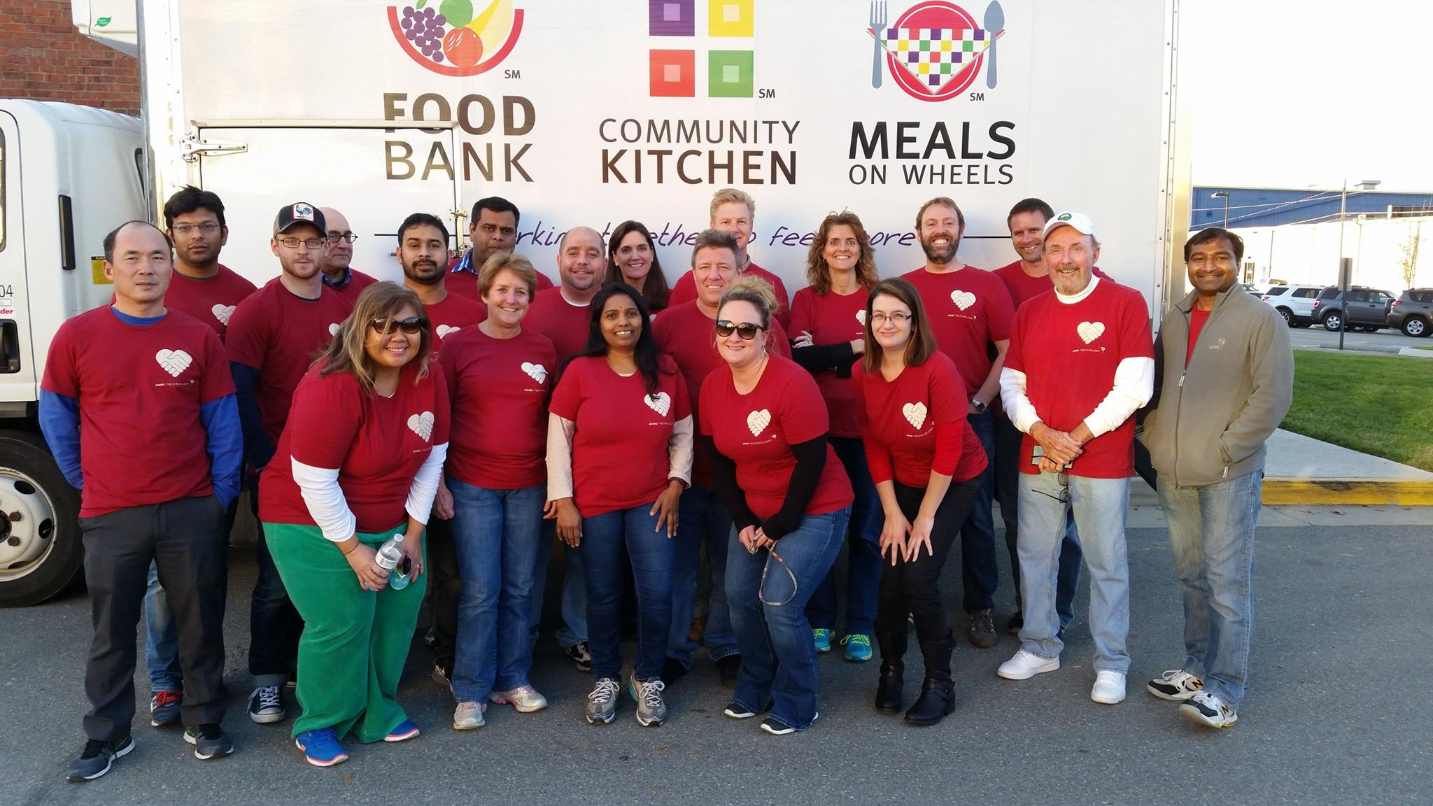 AMC Technology Volunteers with Feed More