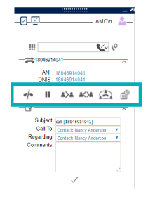Contextual Call Controls for Microsoft Dynamics CRM Telephony and Omni-Channel Integration